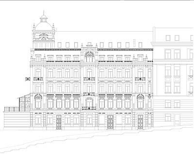 Фасад будинку, вул. І. Франка